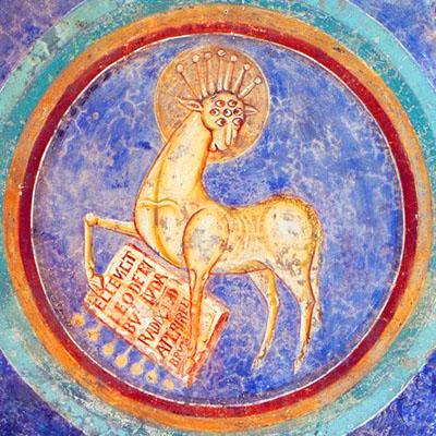 Cripta di San Magno ad Anagni «L'agnello dell'Apocalisse»