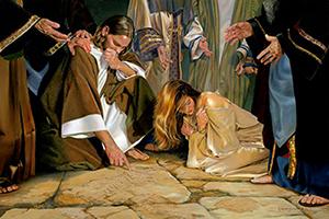 Il Cristo e l'adultera