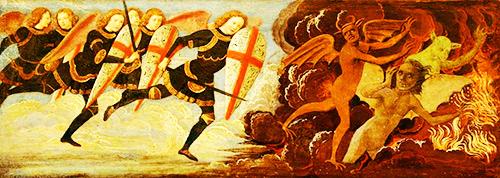 Domenico Ghirlandaio «Battaglia di Michele e degli Angeli contro i demoni»