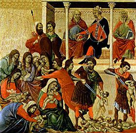 Duccio Di Buoninsegna La strage degli innocenti