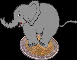 Elefante su moneta