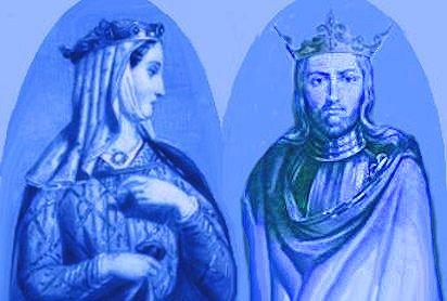 Eleonora d'Aquitania e il re Luigi II