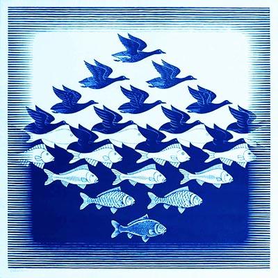 Escher Cielo e acqua