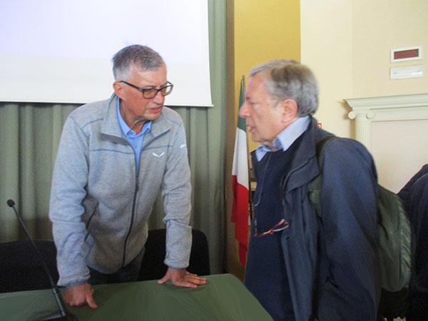 Fabio Burigana con Vincenzo Squillante