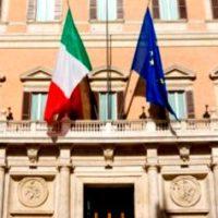 Portale di Montecitorio con la raffigurazione delle due sephirot Giustizia e Compassione