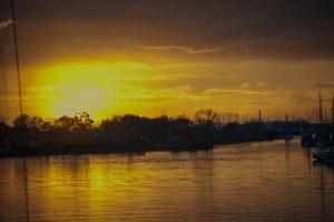 Fiumara Grande al tramonto