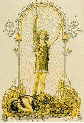 Franz Stassen «Parsifal e la lancia»