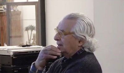 """L'amico Fulvio durante la mia intervista presso il Caffè Letterario """"Horafelix"""" di Roma in data 26 novembre 2019"""