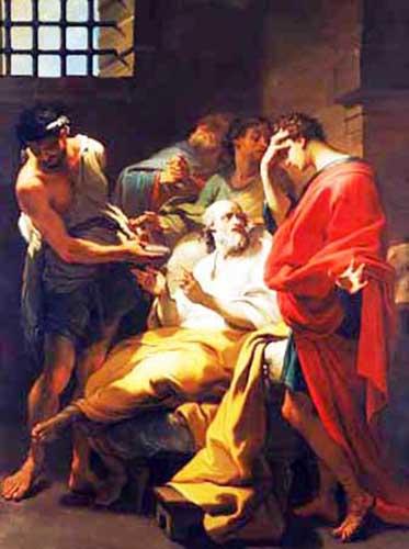 Gaetano Gandolfi Morte di Socrate