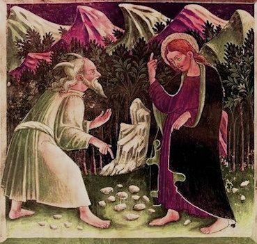 Giacomo Borlone  «Cristo tentato da Satana»