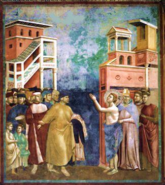 Giotto «San Francesco si spoglia delle vesti»