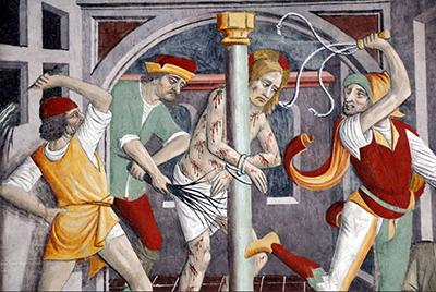 Giovanni Canavesio «La flagellazione del Cristo»