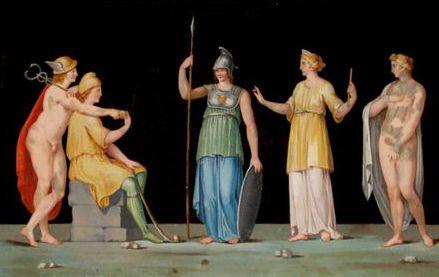 «Il giudizio di Paride» pittura murale (Ercolano)