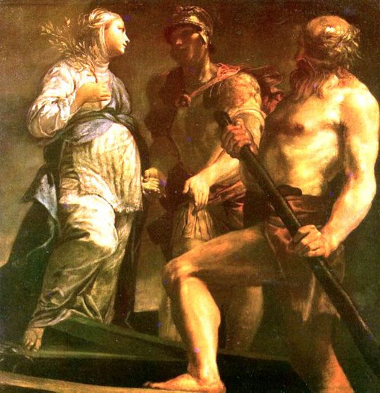 Giuseppe Maria Crespi «Enea e la Sibilla salgono sulla barca di Caronte»