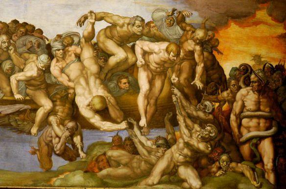 Michelangelo «Giusti e dannati» (Cappella Sistina)