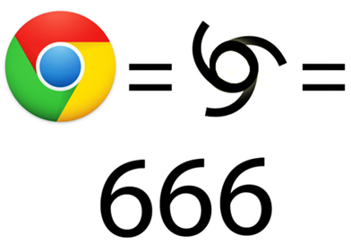 Simbolo Google Chrome - 666