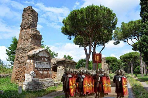 Guerrieri romani sull'Appia