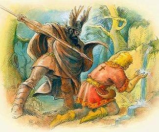 Hagen colpisce Sigfrido