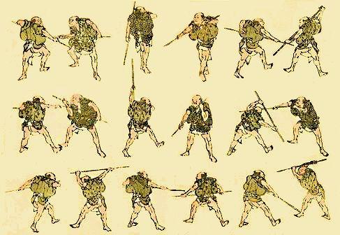 Hokusai  «L'arte della scherma»