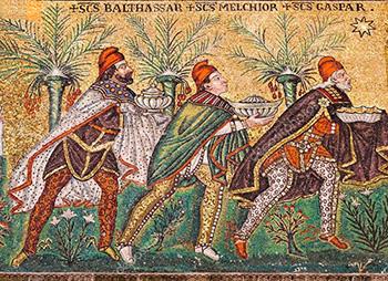 I tre Re Magi - Mosaico di Sant'Apollinare Nuovo - Ravenna