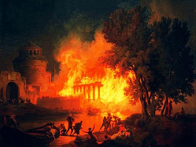 Il Grande Incendio di Roma del 64 d.C.