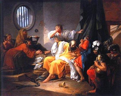 Jacques Philip Joseph de Saint Quentin «La morte di Socrate»