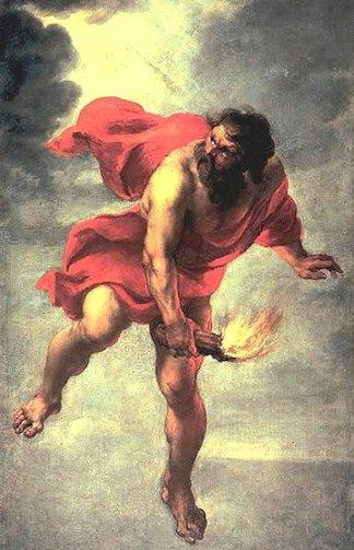 Jan Cossiers «Prometeo ruba il fuoco agli dèi»