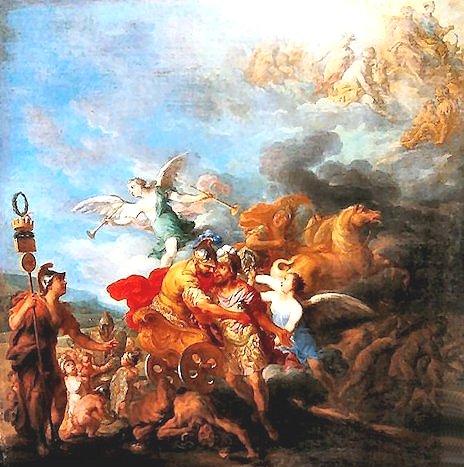 Jean Baptiste Nattier - Marte cattura Romolo per condurlo sull'Olimpo