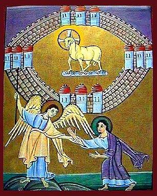 L'Angelo mostra a Giovanni il Regno, la Potenza e la Gloria dell'Agnello di Dio