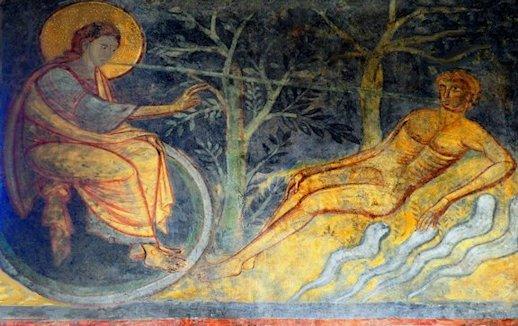 San Giovanni a Porta Latina, Roma «La creazione dell'uomo»