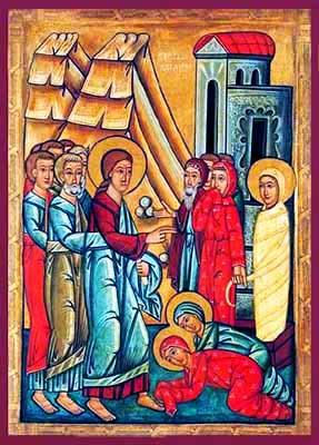 «Resurrezione di Lazzaro» icona russa