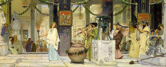 Lawrence Alma Tadema «Il Tubilustrium»