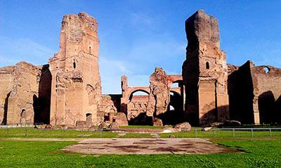 Le attuali Terme di Caracalla