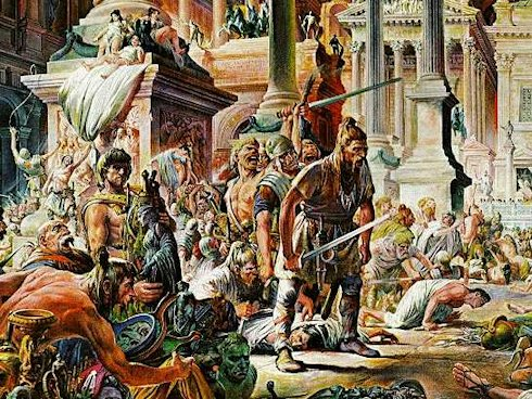 Le invasione barbariche nella Roma del V secolo