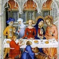 «Le nozze di Cana» miniatura dei fratelli Limbourg