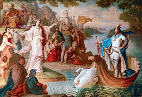 August von Heckel  «L'arrivo di Lohengrin»