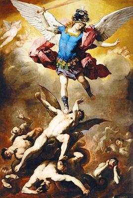 Luca Giordano «Michele contro i demoni»