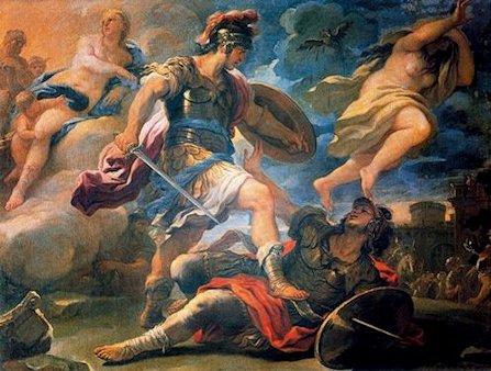 Luca Giordano «Il duello di Enea e Turno»