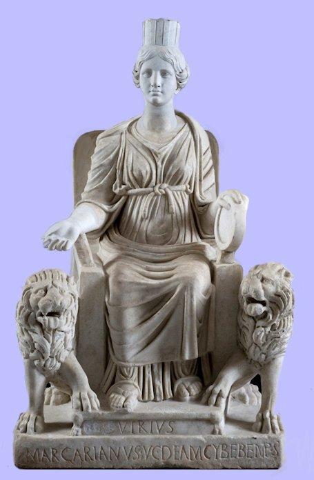 Magna Mater Cibele in trono