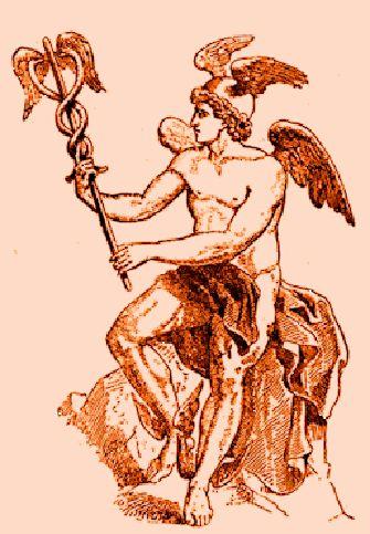 Mercurio con il Caduceo