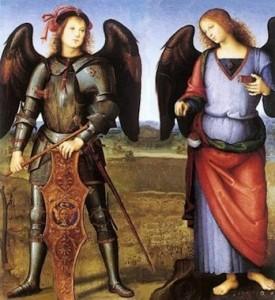 l Perugino  «Gli Arcangeli Michele e Raffaele»