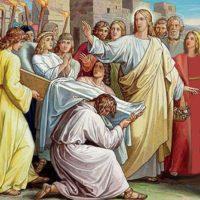 Miracolo di resurrezione del figlio della vedova di Naim