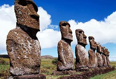 I Moai, monoliti dell'isola di Pasqua