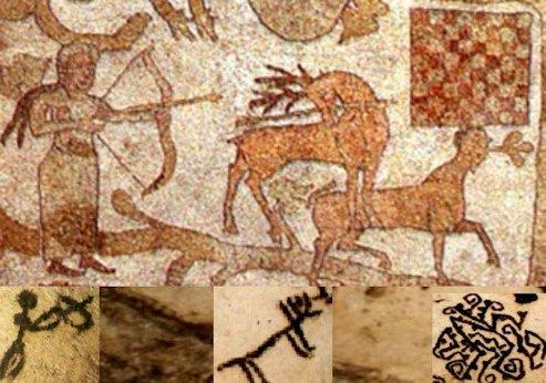 Confronto tra il mosaico e i pittogrammi