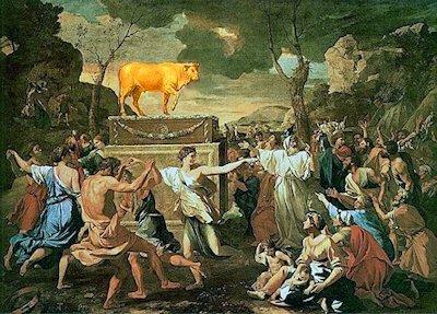 Nicolas Poussin  «L'adorazione del vitello d'oro»