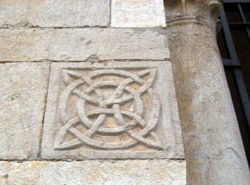 Sigillo Templare con 4 vescica piscis triplice cinta e due cerchi inscritti