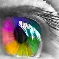 Occhio con colori