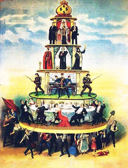 La piramide sociale che genera l'odio di classe