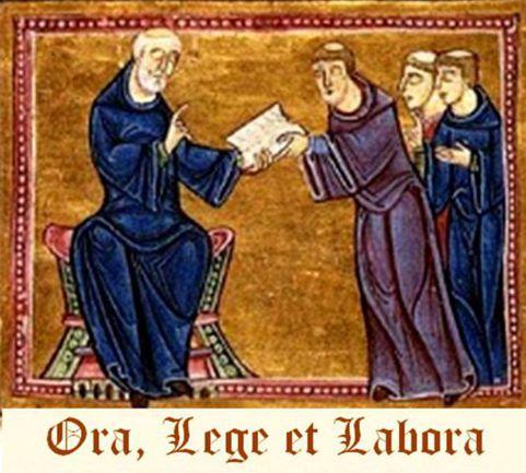 San Benedetto dà la regola dell'ordine