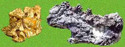 Oro e argento nativo